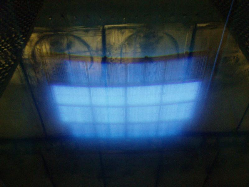 Cherenkov radiation from Co-60 in water (sterilisation plant)
