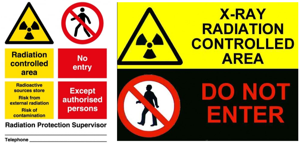 Controlled area signage examples