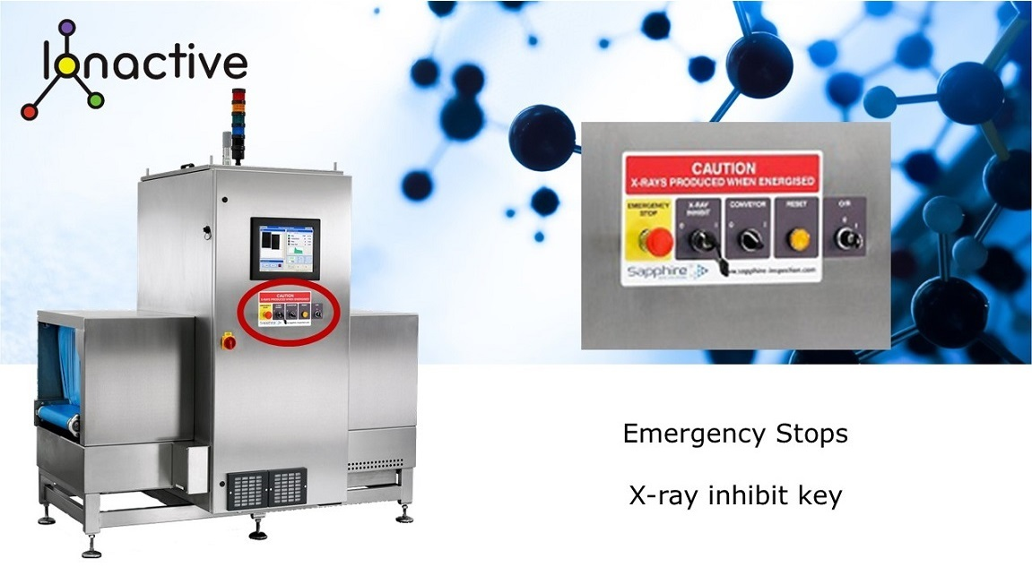 X ray food emergency stop and unit controls