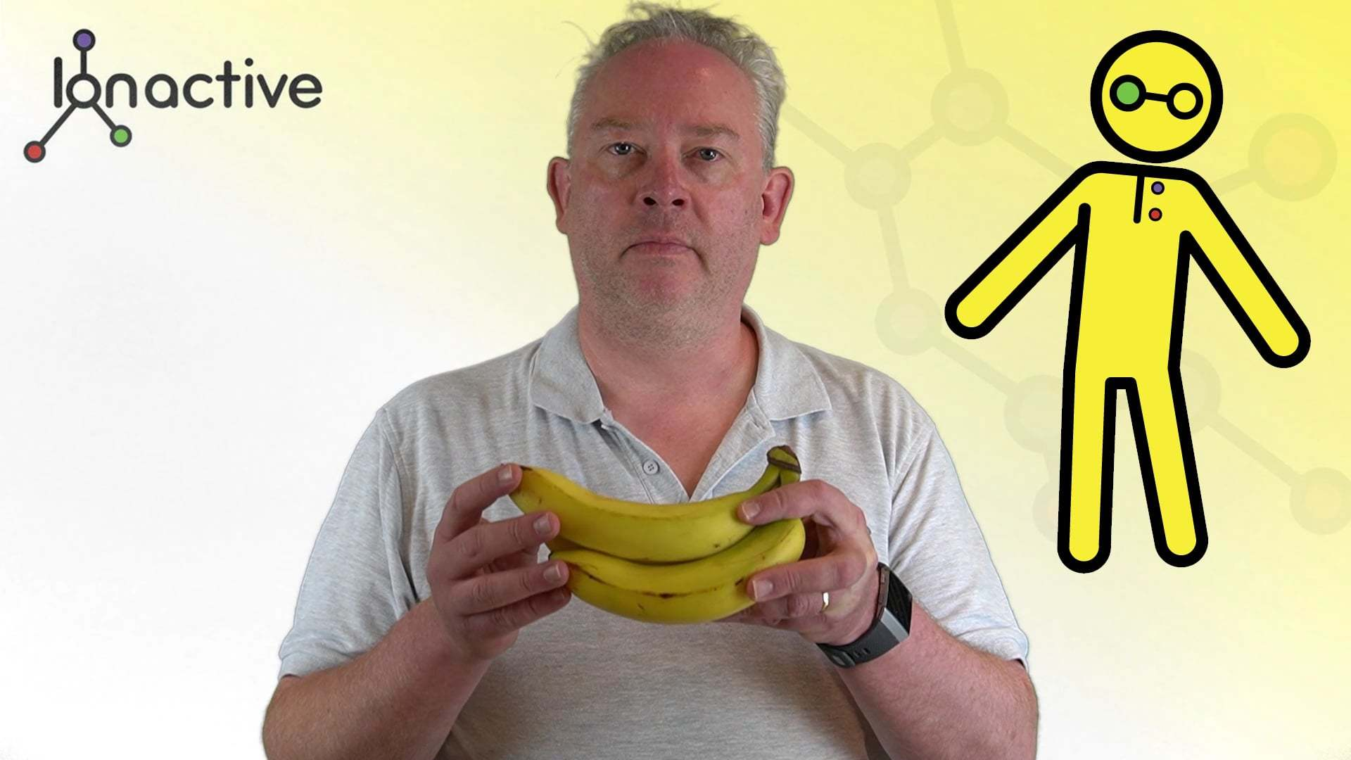 Mark Ramsay explaining why a banana a day keeps the K 40 at bay